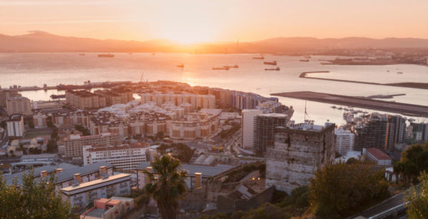 Panorama Of Gibraltar At Sunset 400